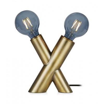 Lampa stołowa SIMUL 40W E14/E27 złota 108053 MARKSLOJD