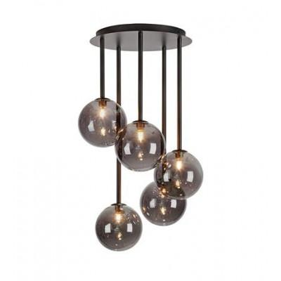 Hanging lamp UNIVERSE 5x20W Black / Smoke 108111 MARKSLOJD