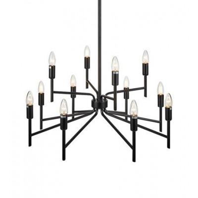Lampa wisząca REGENT 12x40W E14 Czarna 108107 MARKSLOJD