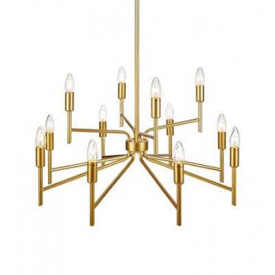 Lampa wisząca REGENT 12x40W E14 złota 108106 MARKSLOJD
