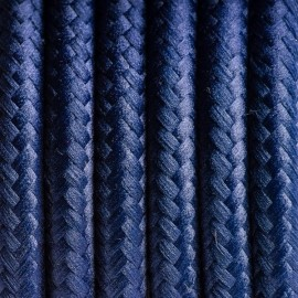 Round electric cable covered by polyester 25 blueberries 2x0.75