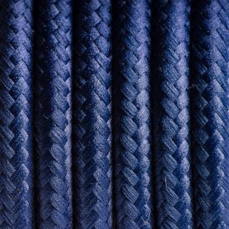 Granatowy kabel w oplocie poliestrowym 25 borówka amerykańska dwużyłowy 2x0.75 Kolorowe Kable
