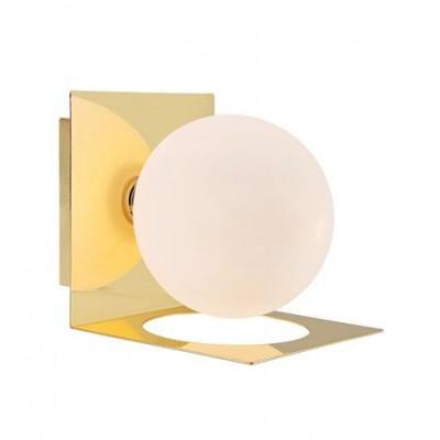 Wall lamp ZENIT 18W G9 Brass / Opal 108085 MARKSLOJD