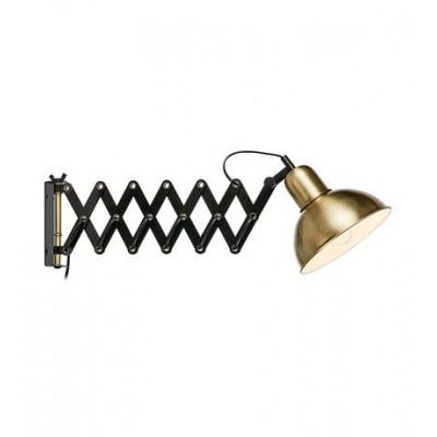 Wall lamp RIGGS 60W E27 black / antique 108104 MARKSLOJD