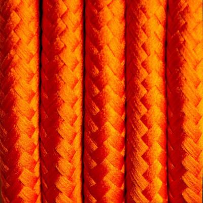Kabel w oplocie poliestrowym 26 marchewkowa uczta dwużyłowy 2x0.75