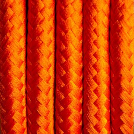 Pomarańczowy kabel w oplocie poliestrowym 26 marchewkowa uczta dwużyłowy 2x0.75 Kolorowe Kable
