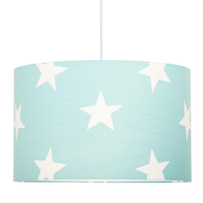 Abażur gwiazdy na turkusowym