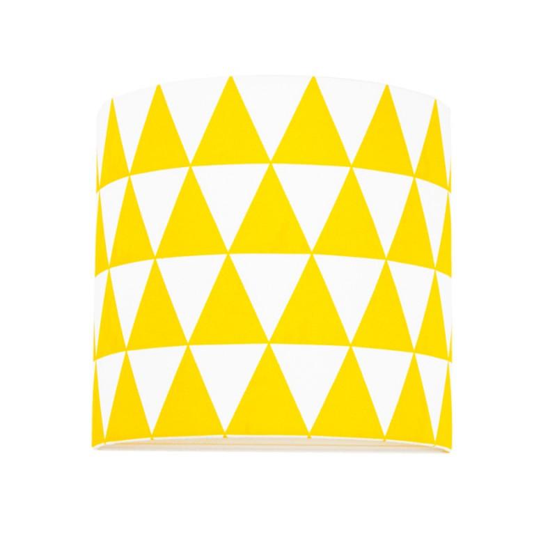 Kinkiet trójkąty żółte