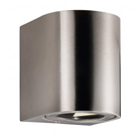 Wall lamp CANTO 2 2X6W LED IP44 stainless steel 49701034 Nordlux