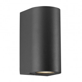 Wall lamp CANTO MAXI 2 2X28W GU10 IP44 black 49721003 Nordlux