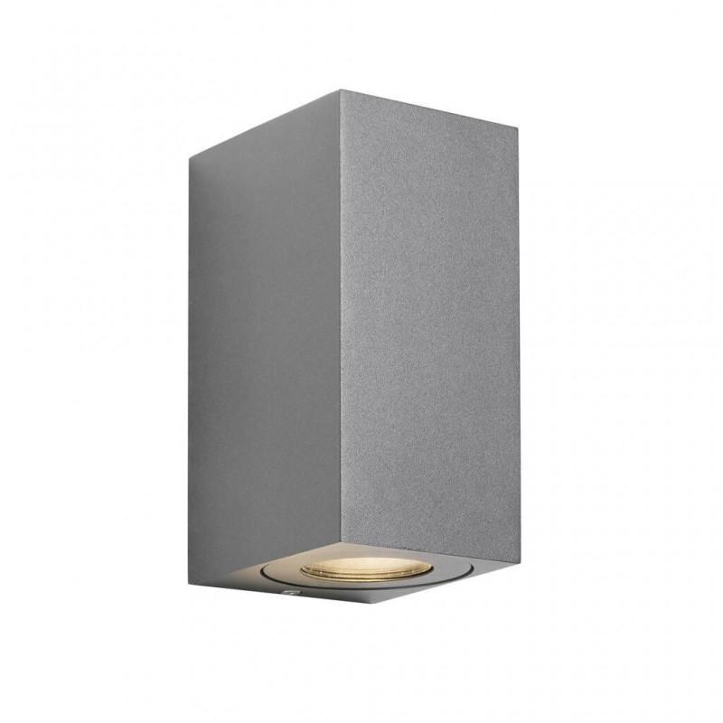 Wall lamp CANTO MAXI KUBI 2 2X28W GU10 IP44 gray 49731010 Nordlux