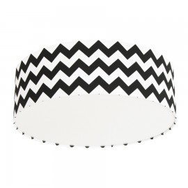 Black Chevron Plafond Ceiling Lamp