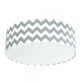 Grey Chevron Plafond Ceiling Lamp