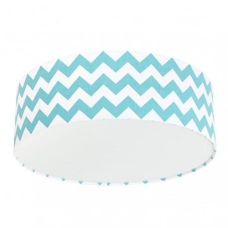 Turquoise Chevron Plafond Ceiling Lamp