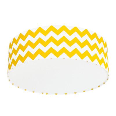 Lampa przysufitowa plafon chevron żółty kolekcja New York youngDECO