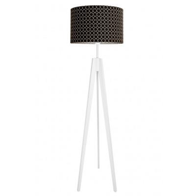 Lampa podłogowa koniczyna marokańska mała czarna
