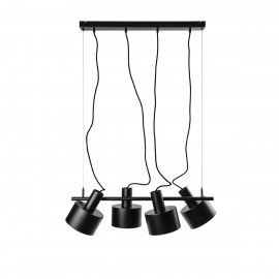 ENKEL 4 czarna sufitowa lampa wisząca