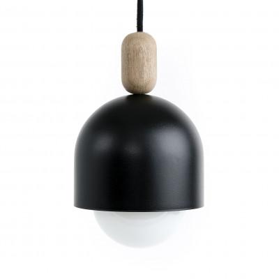 Loft Ovoi Mega czarna strukturalna lampa wisząca KOLOROWE KABLE
