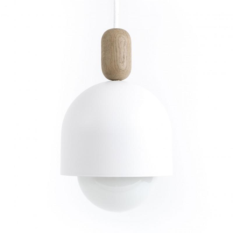 Loft Ovoi Mega biała strukturalna lampa wisząca KOLOROWE KABLE