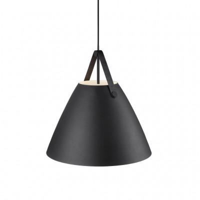 Lampa wisząca / sufitowa STRAP 48 czarna 40W E27 84353003 Nordlux