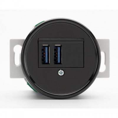Ładowarka USB THPG bakelit czarny 100876 THPG