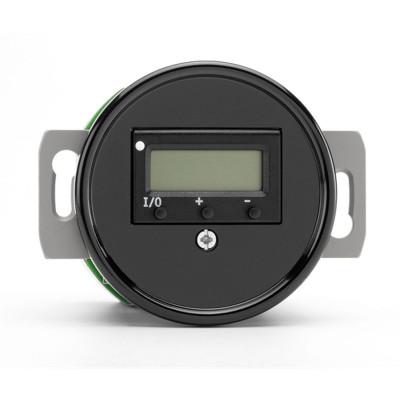 Rustykalny bakelitowy podtynkowy regulator temperatury w stylu retro czarny bez ramki 100418 THPG