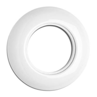 Rustykalna porcelanowa pojedyncza ramka okrągła 173085 THPG