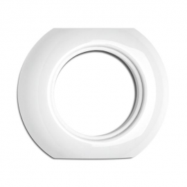 Rustic porcelain middle round frame for sockets and switches 173087 THPG