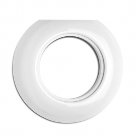Rustic porcelain round end frame for 173088 THPG sockets and switches