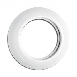 Rustic Porcelain Round Single Bezel for Multimedia Sockets, 173086 THPG