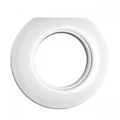 Rustykalna porcelanowa pojedyncza ramka okrągła końcowa  do gniazd multimedialnych 173089 THPG