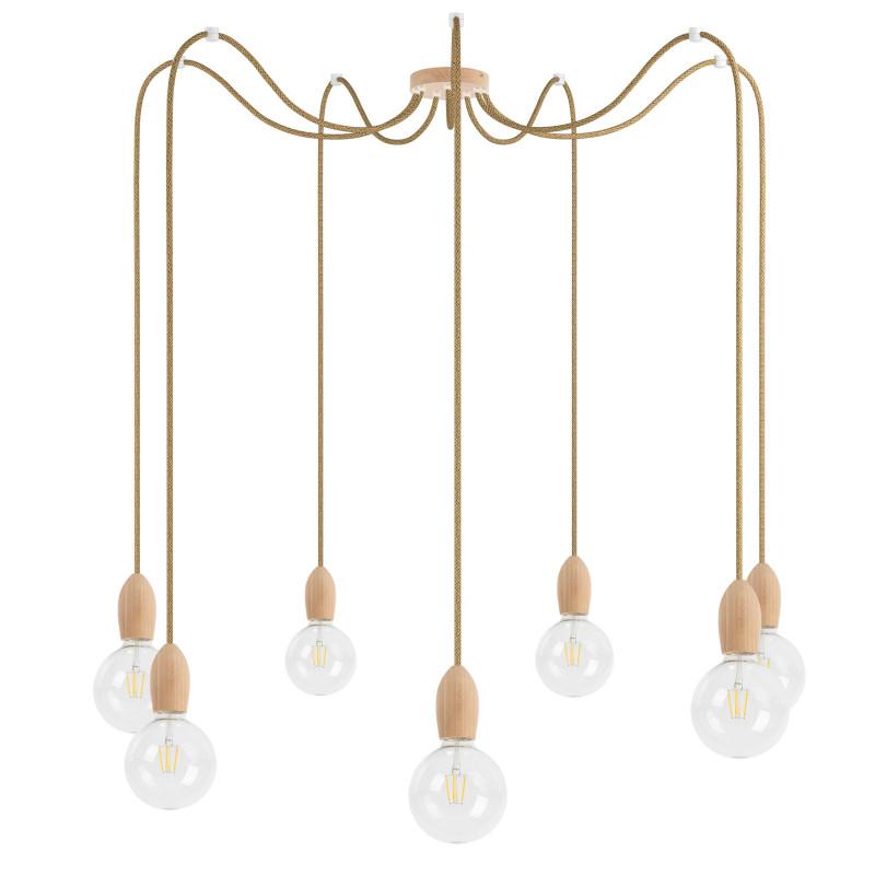 Wooden pendant lamp Loft Multi Eco Line X6 TYPE A