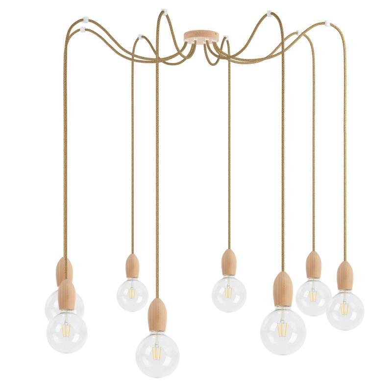 Wooden pendant lamp Loft Multi Eco Line X7 TYPE B