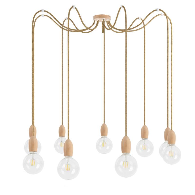 Wooden pendant lamp Loft Multi Eco Line X9 TYPE A