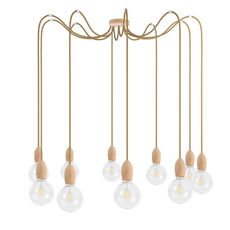 Wooden pendant lamp Loft Multi Eco Line X10 TYPE A