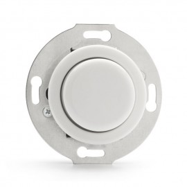 Rustic Porcelain Flush-mounted Rotary Dimmer LED 3W-130W Retro Style - White Without Frame 100407 THPG