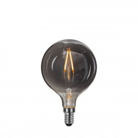 DECOLED MOKE decorative bulb with black glass LED E14 G80 1.5W 2100K Star Trading