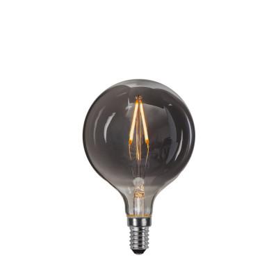 DECOLED MOKE żarówka dekoracyjna z czarnym szkłem LED E14 G80 1,5W 2100K Star Trading