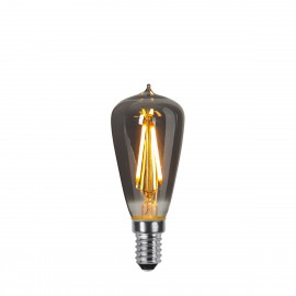 DECOLED SMOKE decorative bulb with black glass LED E14 ST38 1.6W 2100K Star Trading