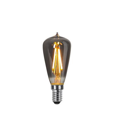 DECOLED SMOKE żarówka dekoracyjna z czarnym szkłem LED E14 ST38 1,6W 2100K Star Trading