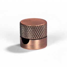 Sarè - Metal wall fairlead fixing for textile cable - Brushed copper FCM01RAS Creative Cables