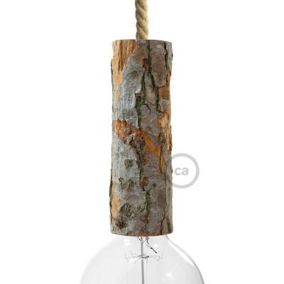 Large bark E27 lamp holder kit KBL0422016 Creative Cables