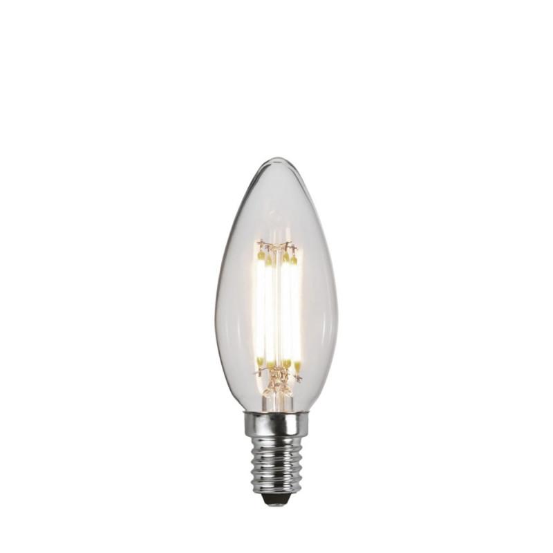 DECOLED CLEAR 3 power levels, decorative LED bulb E14 C35 4.2W 3000K Star Trading