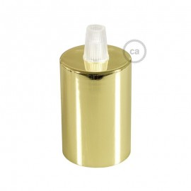 Conical gold metal E27 thread bulb holder with plastic cord lock Creative-Cables