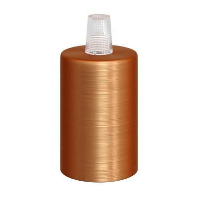 Miedziana metalowa oprawka żarówki gwint E27 z plastikowym zaciskiem przewodu - miedź szczotkowana Creative-Cables
