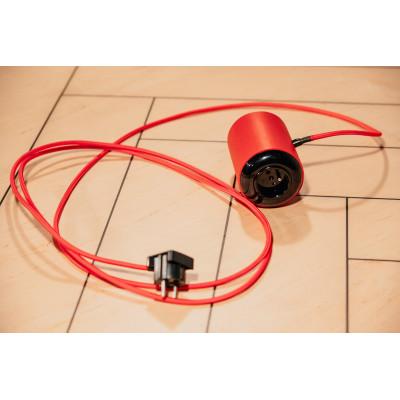 Przedłużacz elektryczny ROLL ON czerwony 3m, lite drewno Zetpety
