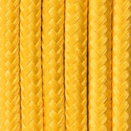 Żółty kabel w oplocie poliestrowym 28 słoneczny melon dwużyłowy 2x0.75 Kolorowe Kable