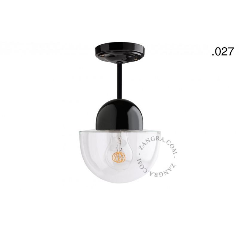 Hanging / ceiling lamp black porcelain light.036.023.b.027, E27 Zangra