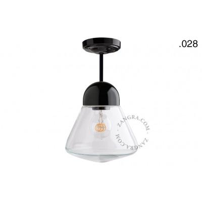 Hanging / ceiling lamp black porcelain light.036.023.b.028, E27 Zangra