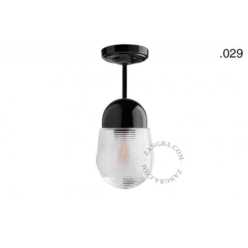 Hanging / ceiling lamp black porcelain light.036.023.b.029, E27 Zangra